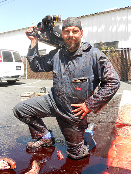 Director Gabe Bartalos on the set of  Saint Bernard.